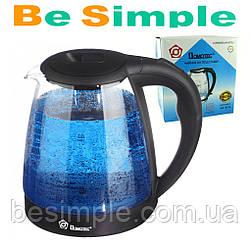 Чайник с подсветкой MS 8210 / Электрочайник стекляный