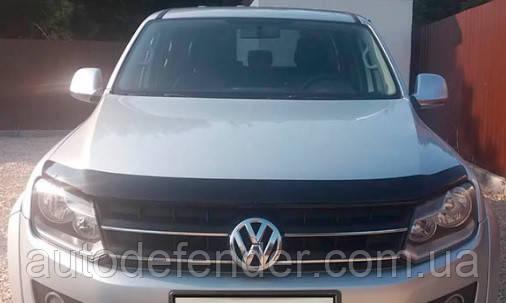 Дефлектор капота (Люкс!) мухобойка Volkswagen VW Amarok 2010-2020, SIM, SVOAMA1012