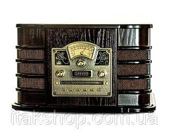 Ретро радио проигрыватель пластинок Daklin Даллас AM/FM-стерео, USB/CD MP3, AUX, BT (RP-131) Орех