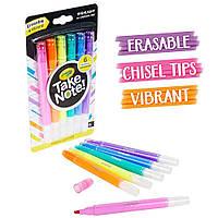 Crayola Набір текстові маркери які стираються(58-6504)Take Note Erasable Highlighters Текстовиділитель
