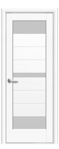 Межкомнатная дверь Линда белый мат  (полотно)