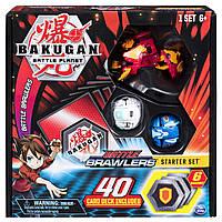 Bakugan Стартовий ігровий набір з 3 Бакуганів B07GT5ZNFV Battle Starter Set Creatures,Pyrus Hydorous 20104008