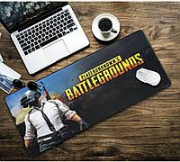 БОЛЬШОЙ геймерский коврик для мышки и клавиатуры игровая поверхность BATTLEGROUNDS R-700 (70х30см), фото 1
