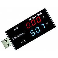 Тестер USB KEWEISI вольтметр, амперметр  KWS-V10, фото 1