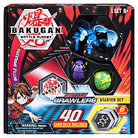Стартовий ігровий Bakugan набір з 3 Бакуганів B07GTHTF9T Battle Starter Set Creatures,Aquos Garganoid 20104010