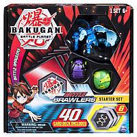 Стартовий ігровий набір Bakugan з 3 Бакуганів B07GTHTF9T Battle Starter Set Creatures,Aquos Garganoid 20104010