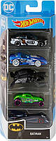 Колекційний набір Hot Wheels Batman Vehicles, 5-Pack з 5 машинок Хот Вілс,1:64 (GMY44) (B082N81NXP)