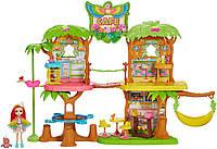 Ігровий набір Enchantimals Junglewood Cafe Енчантімалс кафе в джунглях і папужка Піккі (B07P61HQ82) (GLJ88)