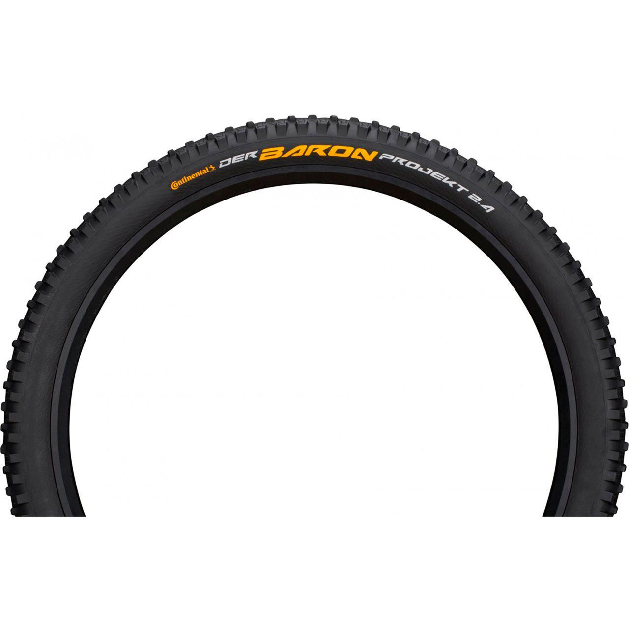 "Покрышка Continental Der Baron Projekt 26""x2.4, Фолдинг, Tubeless, ProTection Apex, Skin"