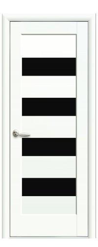 Межкомнатная дверь Оливия BLK белый мат (полотно)