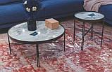 Стол журнальный ETON S (48х48х38 см) керамика светло-серый глянец Nicolas (бесплатная доставка), фото 3