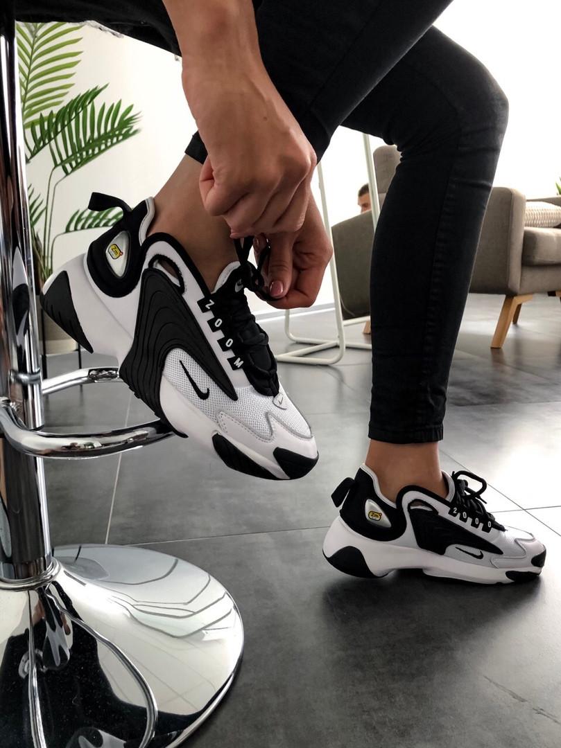 Чоловічі, жіночі кросівки NIKE WMNS ZOOM 2 Black/White
