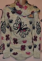 Модная туника с шарфом для девочек Udi kids