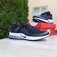 Мужские кроссовки Nike Air Presto Чёрные на белой, фото 1