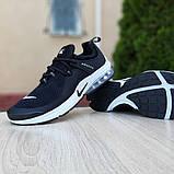 Мужские кроссовки Nike Air Presto Чёрные на белой, фото 2