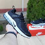 Мужские кроссовки Nike Air Presto Чёрные на белой, фото 3