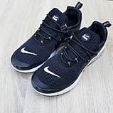 Мужские кроссовки Nike Air Presto Чёрные на белой, фото 7