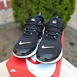 Мужские кроссовки Nike Air Presto Чёрные на белой, фото 8