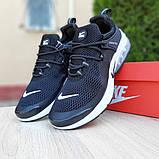 Мужские кроссовки Nike Air Presto Чёрные на белой, фото 9
