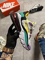 Кроссовки женские Nike Air Max 270 React White Multicolor., фото 1