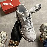 Кросівки Puma жіночі Cali White Black Line., фото 5