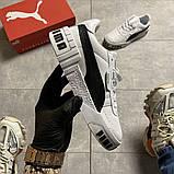 Кросівки Puma жіночі Cali White Black Line., фото 7