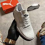 Кросівки Puma жіночі Cali White/Black., фото 5