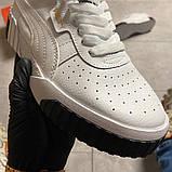 Кросівки Puma жіночі Cali White/Black., фото 10