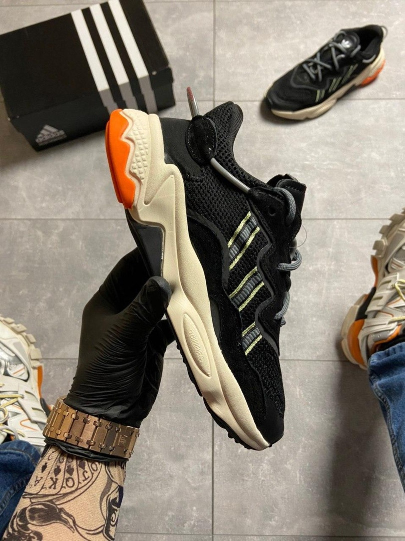 Мужские кроссовки Adidas Ozweego Black Beige.