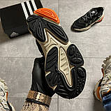 Чоловічі кросівки Adidas Ozweego Black Beige., фото 6