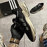 Чоловічі кросівки Adidas Ozweego Black Beige., фото 7