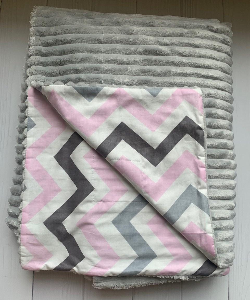 Плюшевий плед на кушетку 120 см 160 см - світло-сірий шарпей