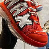 Мужские кроссовки Nike Air More Uptempo 720 Red/White., фото 4