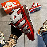 Мужские кроссовки Nike Air More Uptempo 720 Red/White., фото 6