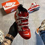 Мужские кроссовки Nike Air More Uptempo 720 Red/White., фото 7