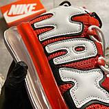 Мужские кроссовки Nike Air More Uptempo 720 Red/White., фото 9