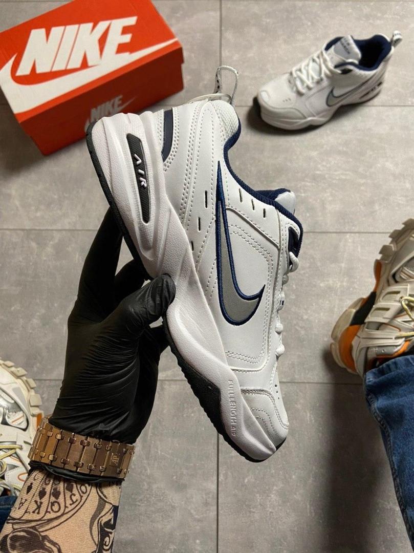 Мужские кроссовки  Nike Air Monarch White Blue.