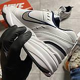 Чоловічі кросівки Nike Air Monarch White Blue., фото 4