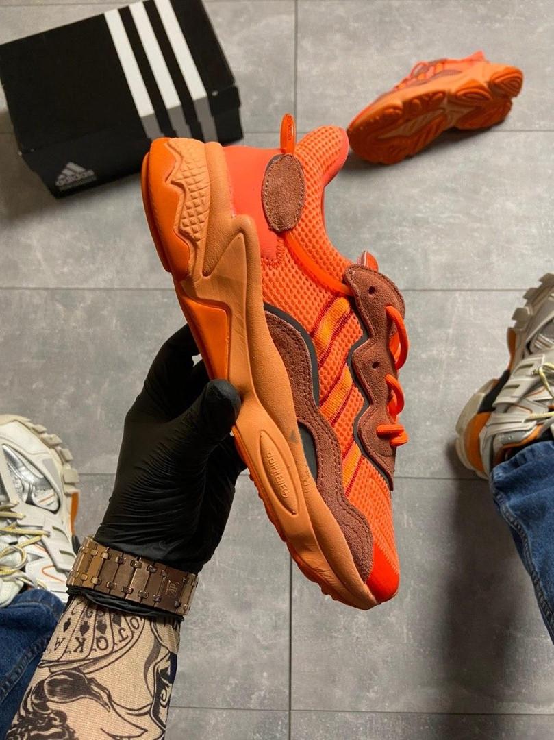 Мужские кроссовки  Adidas Ozweego Orange Red.