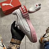 Кросівки Puma жіночі Cali White and Pink Sole., фото 4