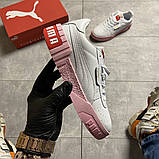 Кросівки Puma жіночі Cali White and Pink Sole., фото 6