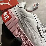 Кросівки Puma жіночі Cali White and Pink Sole., фото 8