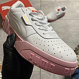 Кросівки Puma жіночі Cali White and Pink Sole., фото 9
