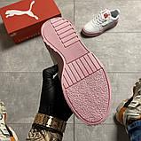 Кросівки Puma жіночі Cali White and Pink Sole., фото 10
