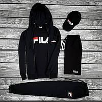 Спортивный костюм мужской  FILA x all black осенний весенний /  ТОП качества