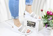 Белые босоножки на танкетке 4Shoes 08764-White, фото 6
