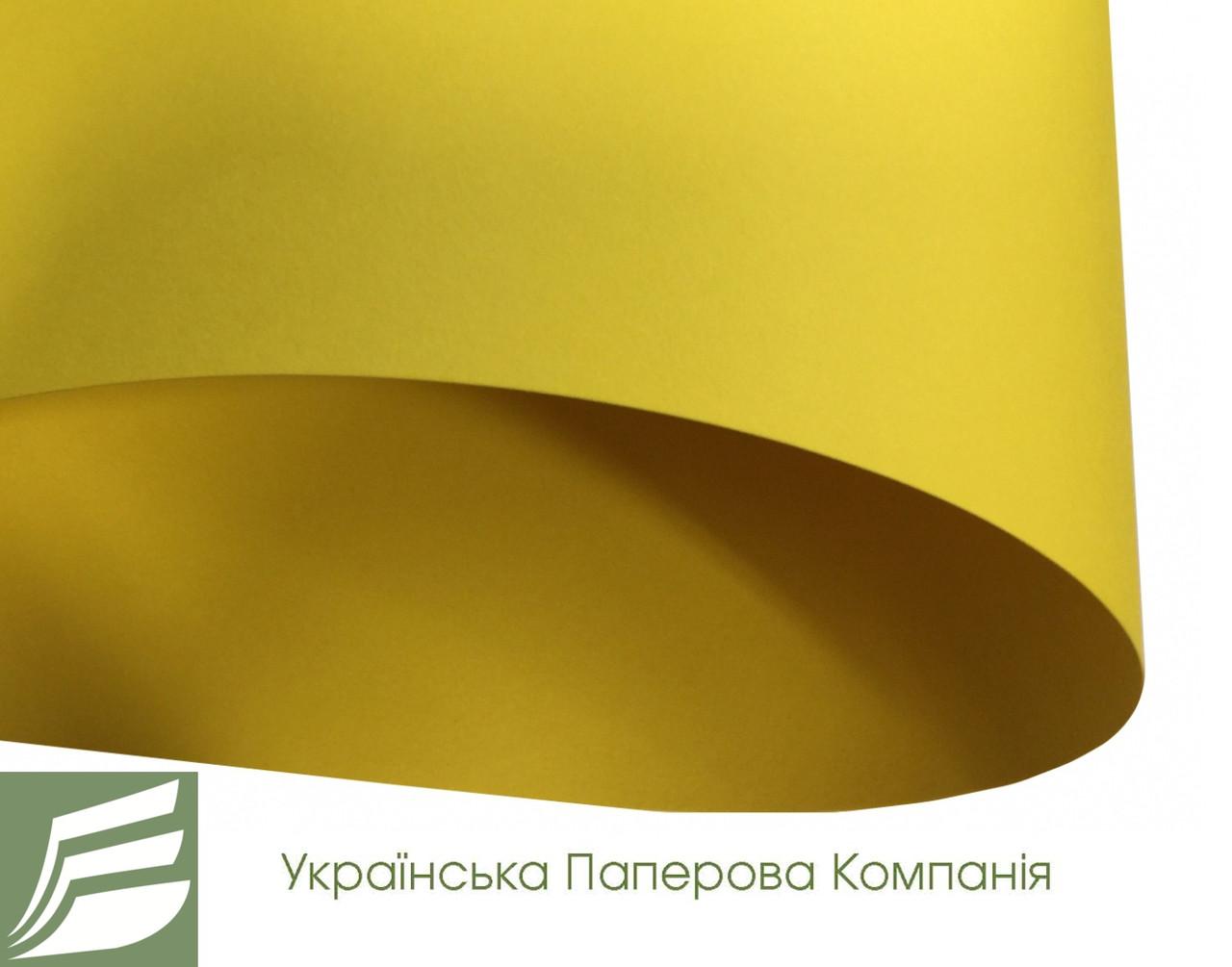 Дизайнерский картон Creative board, матовый желтый, 270 гр/м2