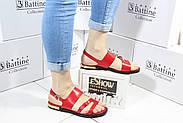 Красные босоножки на низком каблуке Vensi V309, фото 6