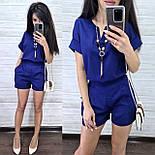 Женский костюм лен: блуза и шорты (2 цвета), фото 2