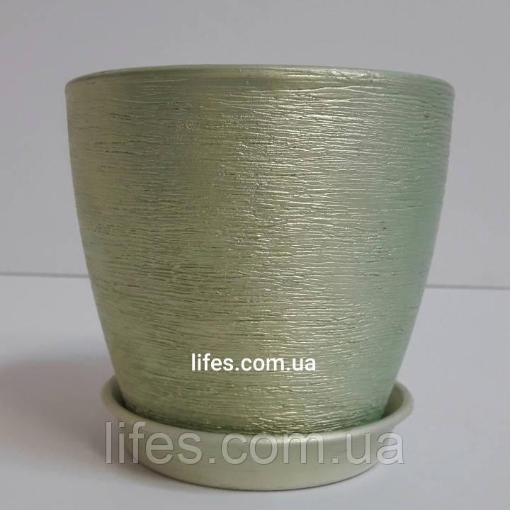 Вазон керамический ВК 13 зеленый 1.2л